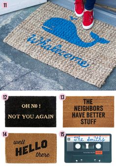 Knock, Knock: 15 Clever Doormats | At Home In Love
