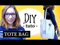 ✄- DIY n°17┆Coudre un TOTE BAG ! (facile / débutant) - YouTube