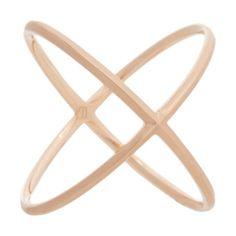 Eva Fehren Rose Gold X-Ring at Barneys.com