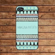 Aztec,hakuna matata--Iphone 4 Case,Iphone 4s case,in plastic   kisscase - Accessories on ArtFire