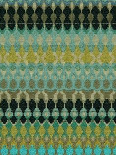 Turquoise Upholstery Fabric  Aqua Blue Fabric by greenapplefabrics, $92.00 To recover the kitchen chair seats. Paint the chairs silver.