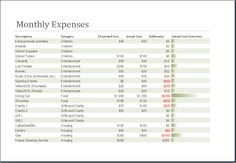 Family Monthly Budget Planner Template at http://worddox.org/family ...