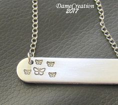 Hey, I found this really awesome Etsy listing at https://www.etsy.com/listing/522344533/butterfly-bar-necklace-butterfly-jewelry