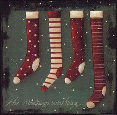 The Stockings, Art Print by Jill Ankrom