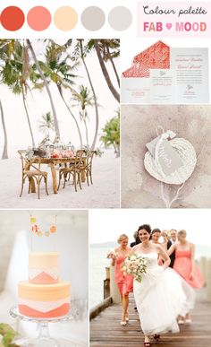 Beach Wedding - Coral Inspiration