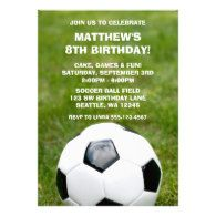 #Soccer Ball and Grass #Birthday #Party #Invitations