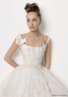 Christian Lacroix wedding gown