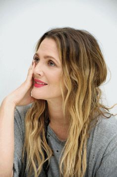 drew barrymore's somewhat extreme balayage hair