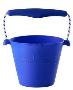 Scrunch bucket Zwijane wiaderko silikonowe Niebieskie