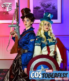 Costoberfest 2015: Carol & Jennifer as the Winter Solider and Captain America