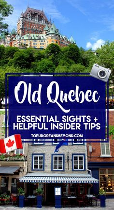 Old Quebec essential sights and helpful insider tips. A list of absolute must-sees, can't miss things to do in Old Quebec from the painfully obvious Château Frontenac to lesser known attractions locals love. Old Quebec, Montreal Quebec, Quebec French, Old Montreal, Travel Jobs, Ways To Travel, Best Places To Travel, Visitar Canada, Quebec City Christmas