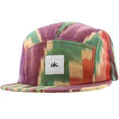 Akomplice Hopi 5 Panel Adjustable Cap (purple / orange / green) HOPI5ADJCAPPOG - $28.00