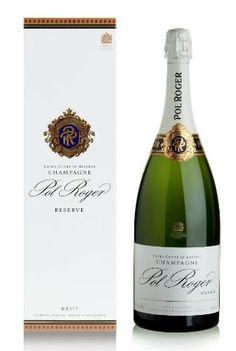 Pol Roger Brut Reserve NV Champagne - Single Bottle Magnum-Marks & Spencer