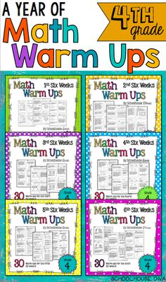 A Year of Morning Work for 4th grade!  $