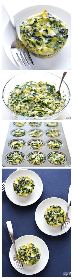 Easy Spinach Artichoke Quiche Cups
