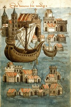 Account of a journey from Venice to Palestine, Mount Sinai and Egypt. Origin: Germany, S. (Passau?). Venice. Date: c. 1467