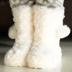 Cherokee Girls Fluffy Slipper Boots