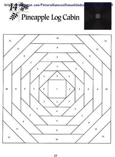 Paper Piece PATTERN- Picasa Web Albums  #quilting #patterns #paper_piece_pattern #pineapple_log_cabin
