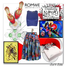 Kandinsky Inspiration by lacetolashes on Polyvore featuring Miss Selfridge, CARGO, romwe, art, contestentry, lacetolashes and kandisky