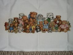 cross stitch teddy bears   Teddy Bear reunion cross stitch