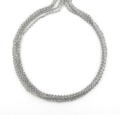 6.6 ft 2 Meters 1mm White Gold Color by FancyGemsandFindings, $5.00 Chains, Pearl Necklace, White Gold, Pearls, Color, Jewelry, String Of Pearls, Jewlery, Beaded Necklace