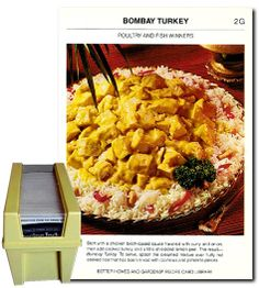 """Bombay Turkey - A recipe from """"Better Homes and Gardens Recipe Card Library"""" published in 1973"""