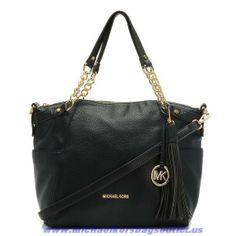New Michael Kors Black Large Devon Shoulder Bag