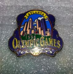 Olympic Games 1996 Atlanta City Scape Lapel Hat Pin