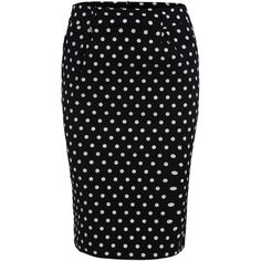 Polka Dot Slim Black Skirt (€8,03) ❤ liked on Polyvore featuring skirts, bottoms, black, above the knee skirts, short bodycon skirt, short skirts, body con skirt and dot skirt