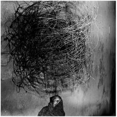 Twirling Wires (2001) by Roger Ballen
