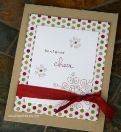 Stampin' Up Be of Good Cheer Handmade Christmas Card