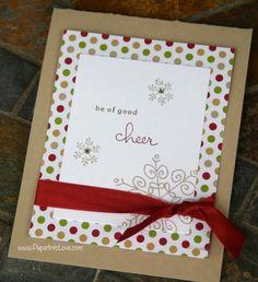 Stampin' Up Be of Good Cheer Handmade Christmas Card