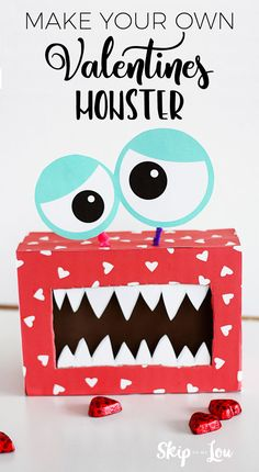 This DIY valentines monster box is a great craft for the kids to make this Valentines day. Kids will love creating their very own funny monsters!