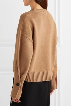 Camel wool-blend Slips on wool, cashmere, nylon, spandex Dry clean Winter Mode Outfits, Winter Fashion Outfits, Knitwear Fashion, Knit Fashion, Pullover Outfit, Knit Shirt, Sweater Outfits, Sweater Weather, Proenza Schouler