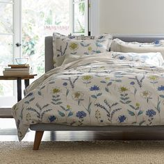 Dayton Floral Linen Sheets & Bedding Set