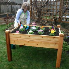 Outdoor Living Today 4 ft. x 3 ft. Cedar Elevated Garden Bed-EGB43 - The Home Depot