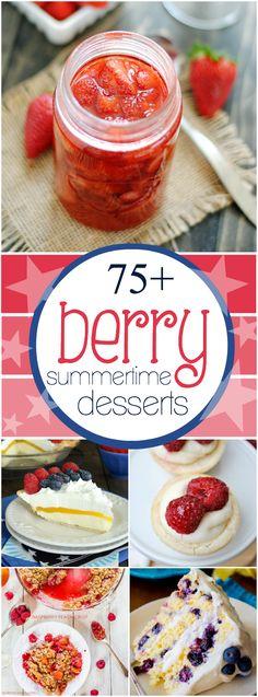 75+ Berry Summertime Desserts   www.somethingswanky.com
