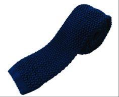 Nick Bronson - Plain Knitted Silk Tie - Colour Navy  http://www.kjbeckett.com/mens/accessories/ties/kj-beckett-knitted-silk-tie-navy.html
