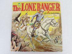 LP THE LONE RANGER FOUR EXCITING ADVENTURE STORIES TEXAS RANGER VINTAGE VINYL $15.85 #Story