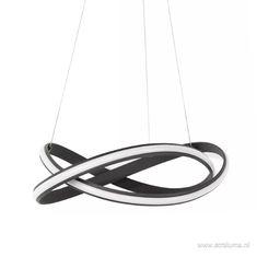Moderne design hanglamp LED zwart krul - www.straluma.nl Modern Design, Led, Contemporary Design