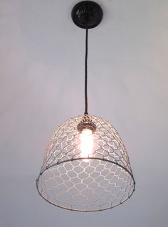 Chicken Wire Dome Pendant