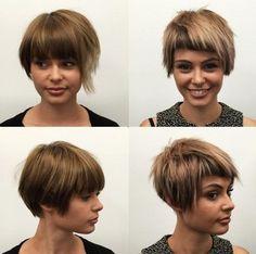 cute choppy short haircut for girls