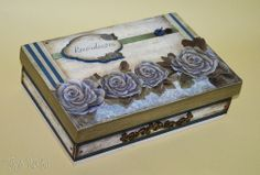 Tays Rocha: Caixa Recordações em scrap decor - Workshop True Colors #artesanato #crafts #scrapdecor