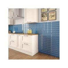 Retro Metro Ocean Blue 7.5cm x 15cm Wall Tile