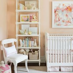 Love this soft palette in this adorable nursery designed by @mhdesigninc. via: @athomearkansas | @scoutandnimble Instagram