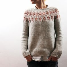 Knitting Patterns Girl Ravelry: Humulus pattern by Isabell Kraemer Fair Isle Knitting, Arm Knitting, Knitting Socks, Knitting Patterns, Tejido Fair Isle, Icelandic Sweaters, How To Purl Knit, Pulls, Knitting Projects