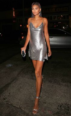 Chanel Iman from The Big Picture: Today's Hot Photos  Silver lady! The always flawless model is spotted in Los Angeles.