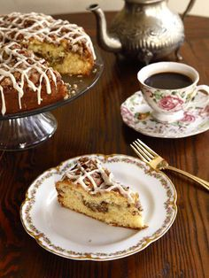 A traditional recipe and history for Sour Cream Coffeecake from food historian Gil Marks on The History Kitchen