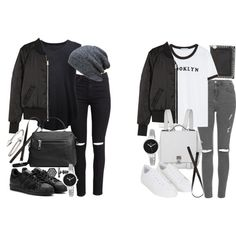 how to style a bomber jacket by florencia95 on Polyvore featuring moda, Zara, Raquel Allegra, H&M, Topshop, adidas, Proenza Schouler, Linea Pelle, STELLA McCARTNEY and Christian Van Sant