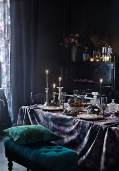 The Dark & the Mysterious, can be enchanting. Foto: Marcus Lawett, Styling: Hans Blomquist #inredning #dukning